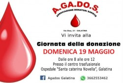 giornata della donazione agados 19 maggio