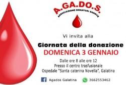giornata della donazione agados 3 gennaio
