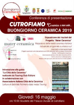 locandina 16 maggio a3 bottega della ceramica 2019 01