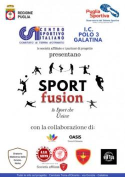 locandina progetto sport fusion
