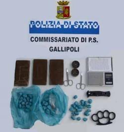 materiale sequestrato in gallipoli